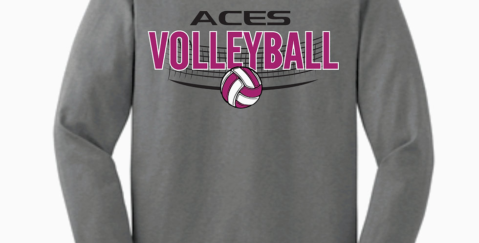 Aces Volleyball Gidlan Grey Cotton Longsleev2
