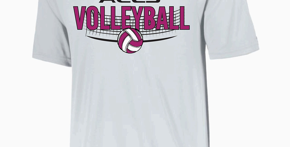 Aces Volleyball Augusta White Dri Fit Shortsleeve
