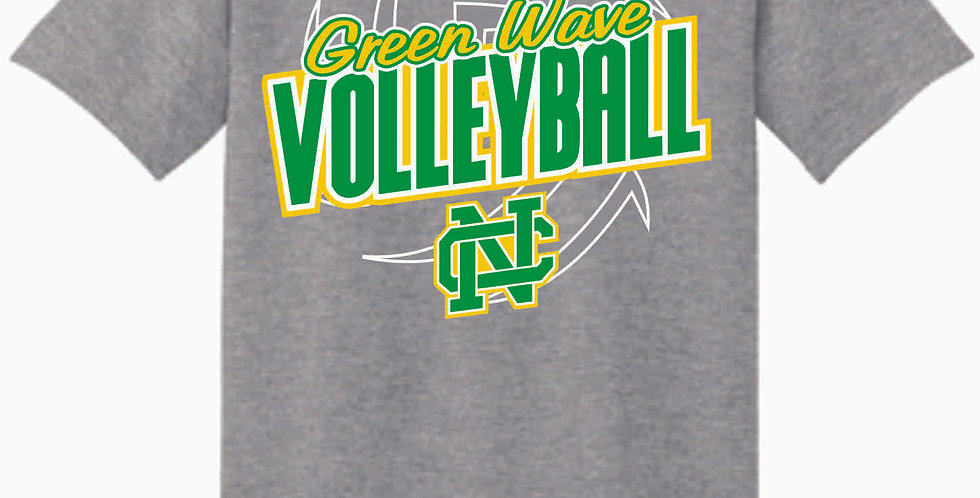 NC Volleyball Sport Grey Cotton T Shirt