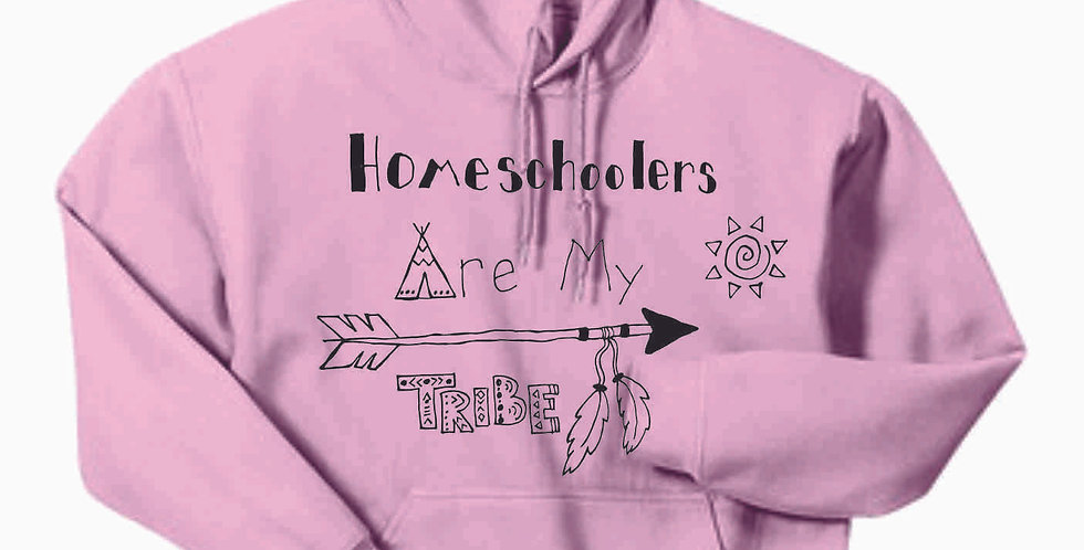 Homeschool My Tribe Light Pink Cotton Hoody
