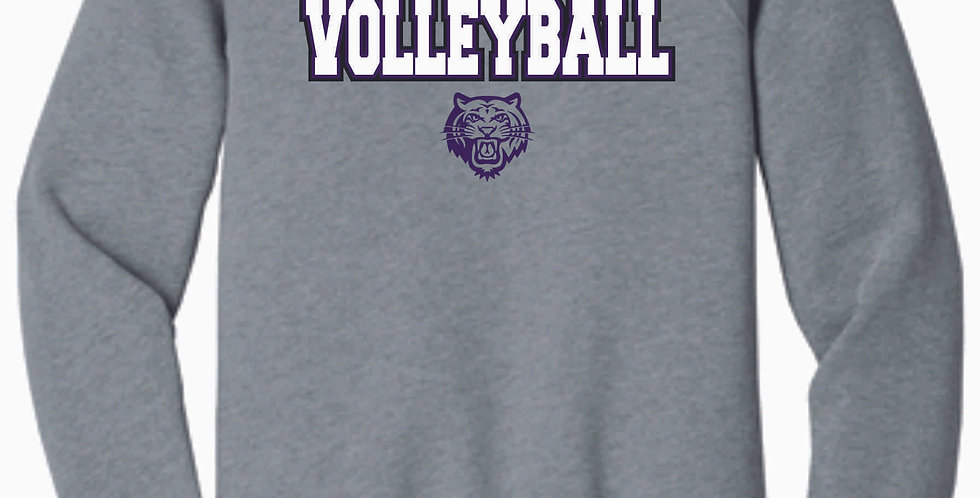 Tiger Volleyball Grey Simple Soft Crew