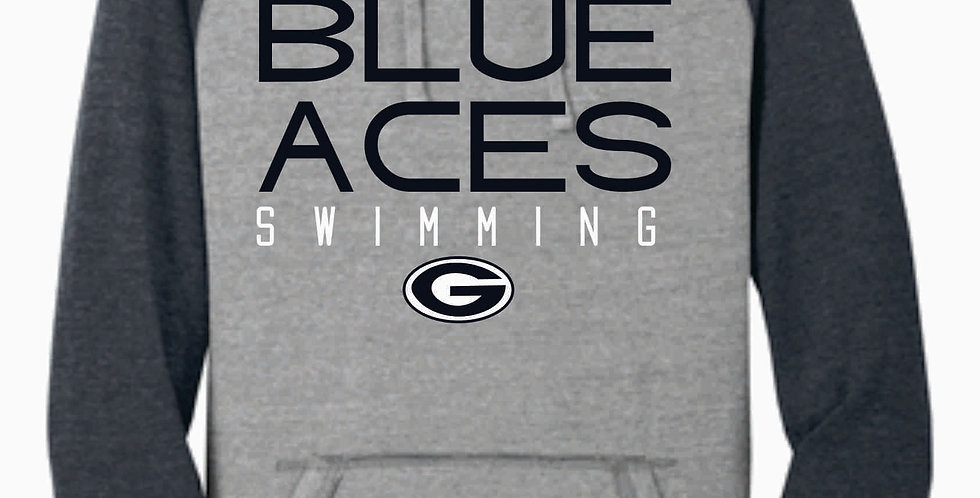 Blue Aces Swimming Grey Two Toned Soft Hood