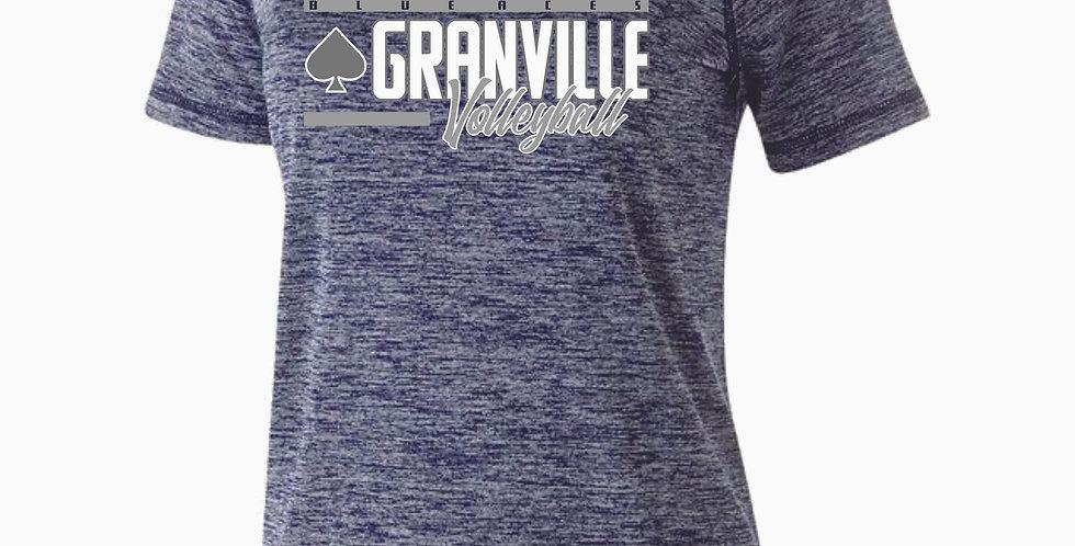 Granville Volleyball Navy Dri Fit Short Sleeve