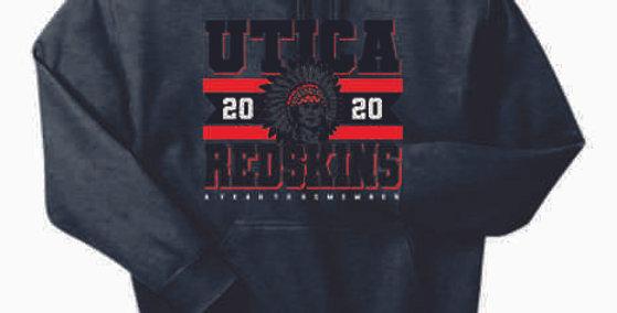 "Utica ""2020"" Dark Heather Cotton Hoody"