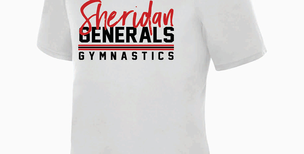 Sheridan Gymnastics White Dri Fit Shortsleeve