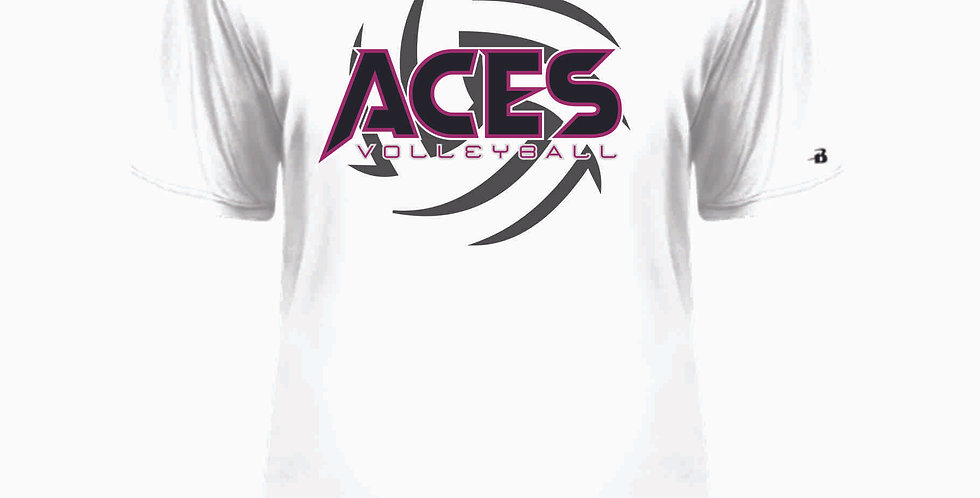 Aces Volleyball White Dri Fit Shortsleeve
