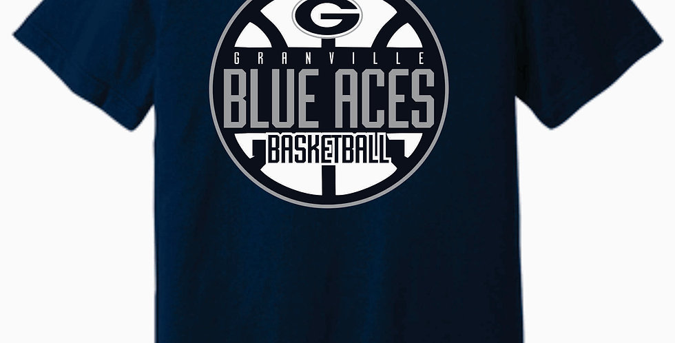 Blue Aces Soft Navy T shirt