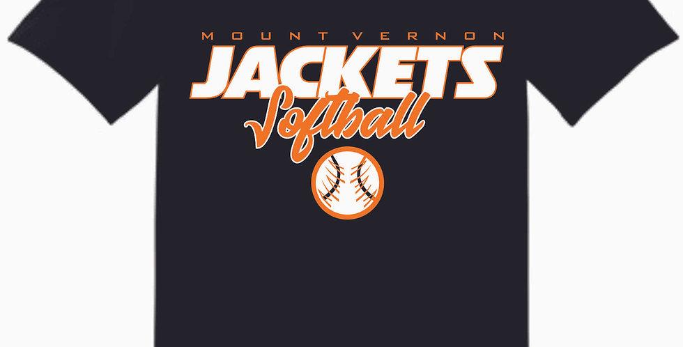 Mount Vernon Black Cotton T Shirt