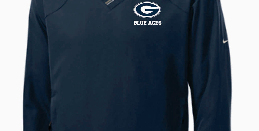 Blue Aces Nike V-Neck Wind Shirt