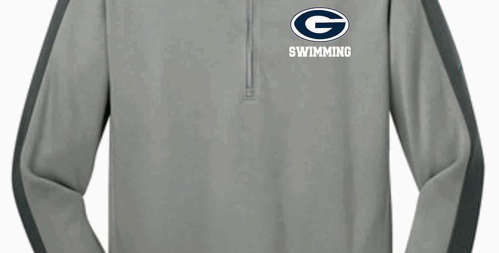 Blue Aces Grey Nike 1/4 Zip