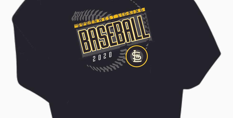 SWL Baseball Black Cotton Hoody