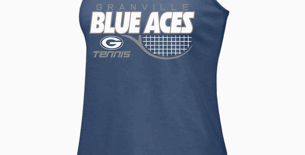 Granville Tennis Navy Tri Blend Tank