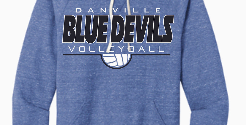 Danville Volleyball Royal Simple Snow Heather Hood