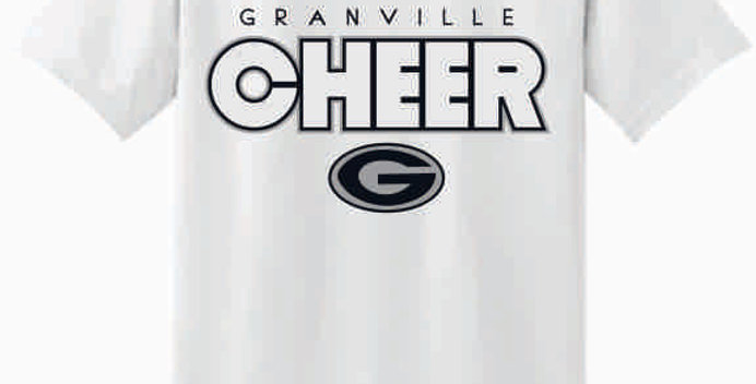 GHS Cheer White Cotton T-Shirt