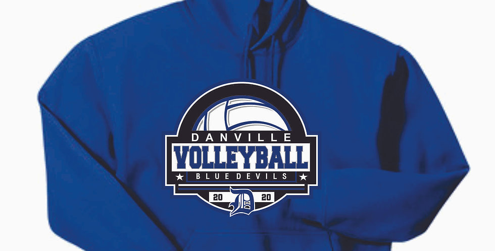 Danville Volleyball Royal Cotton Hoody