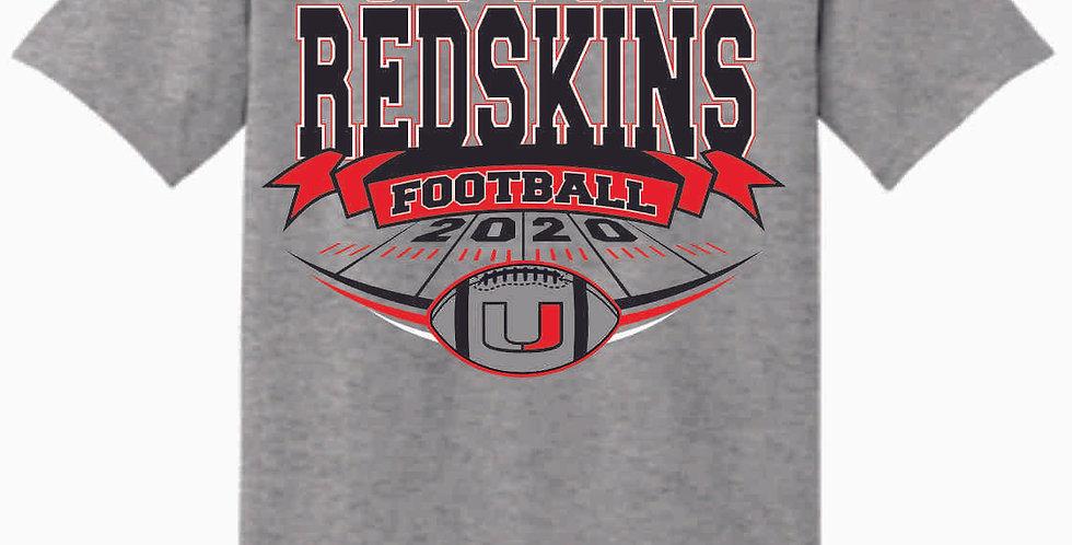 Utica Football Grey Cotton T Shirt