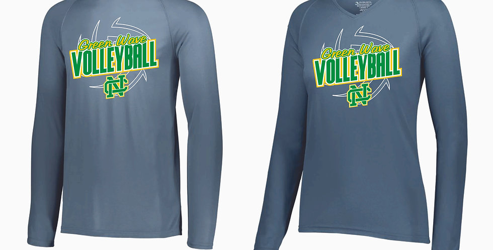 NC Volleyball Grey Longsleeve Dri Fit