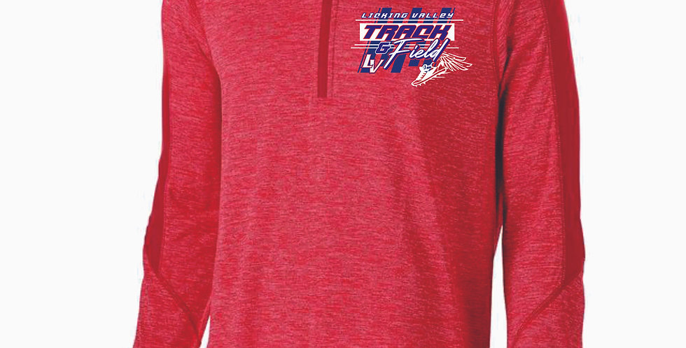 Licking Valley Track and Field Red Electrify 1/4 Zip
