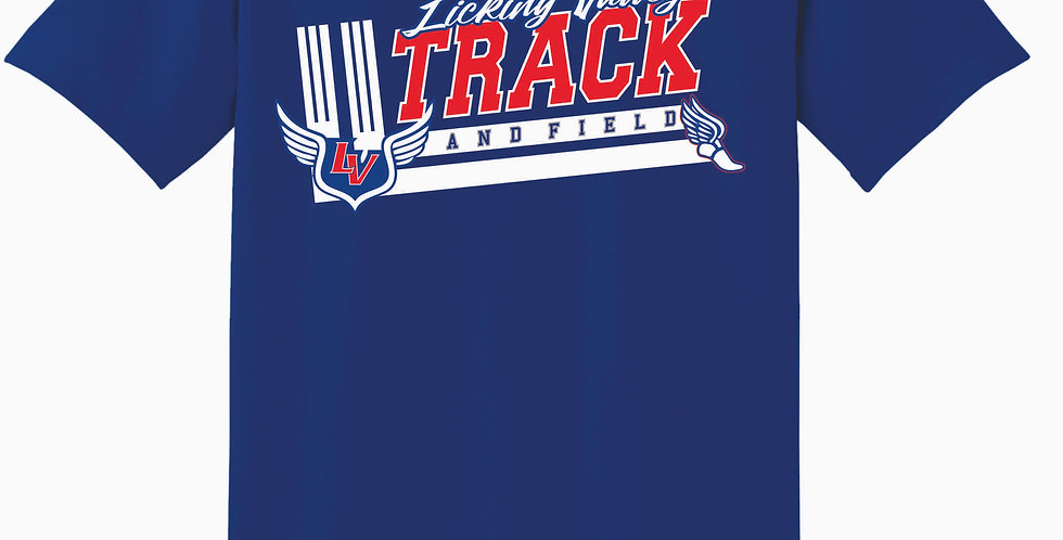 Licking Valley Track Royal Cotton T Shirt