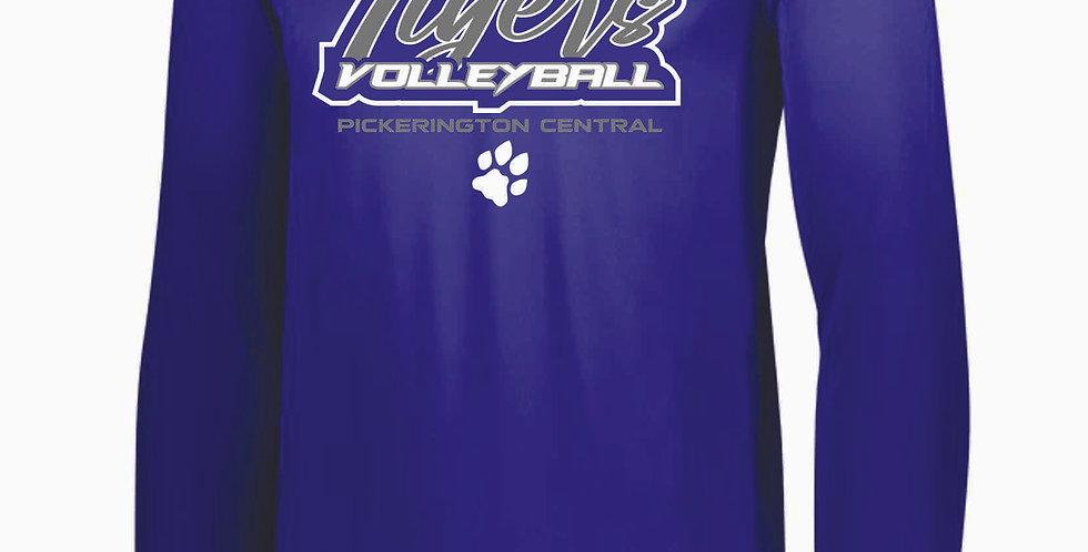 Tiger Volleyball Purple Script Longsleeve Dri Fit