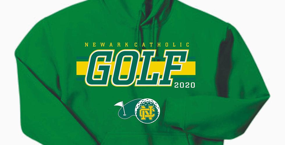 Newark Catholic Golf Kelly Green Cotton Hoody