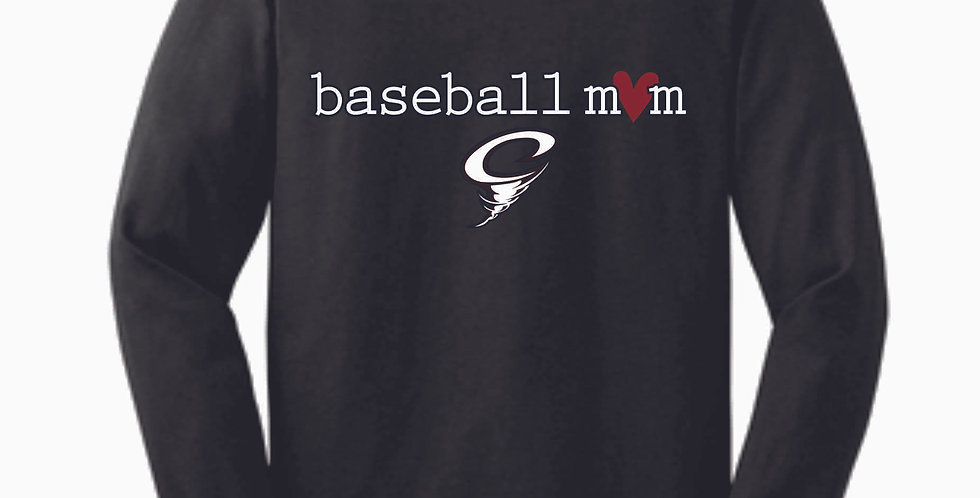 Cyclones Baseball Dk Grey Mom Cotton Longsleeve