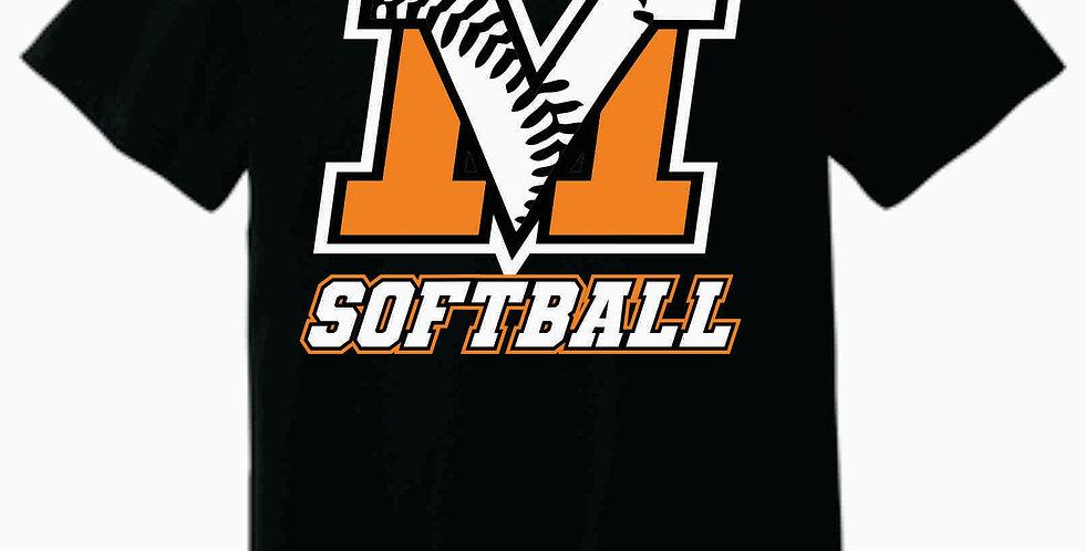 MV Softball Soft Black T shirt