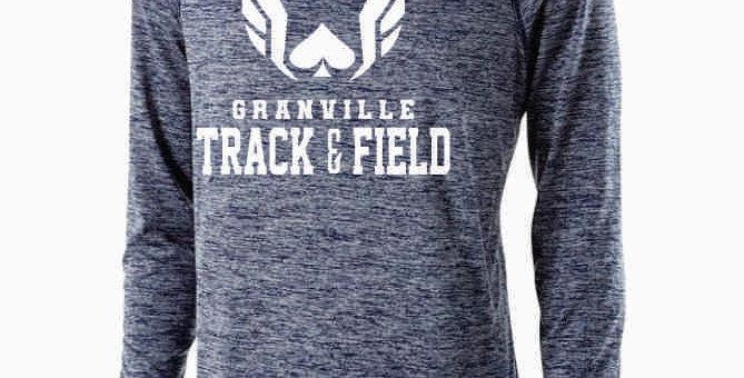 Granville Track and Field Original Navy Dri Fit Longsleeve