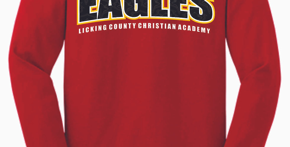 LCCA Red Eagles Cotton Longsleeve Tee