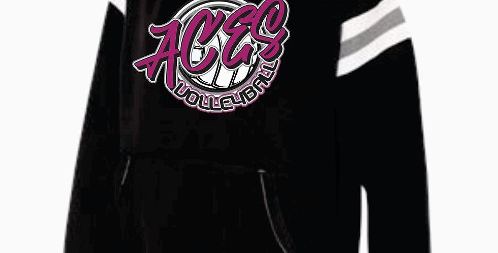 Aces Volleyball J America Black Script Simple Hood