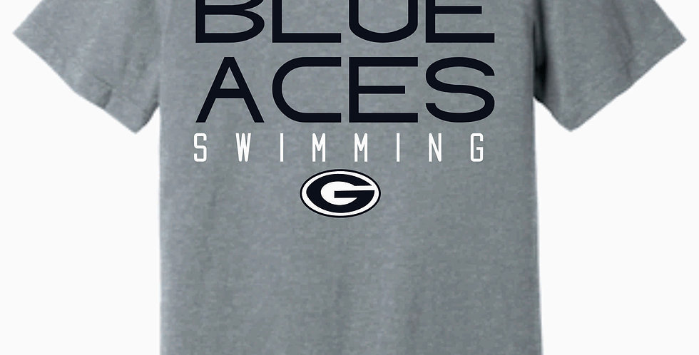 Blue Aces Soft Grey T shirt
