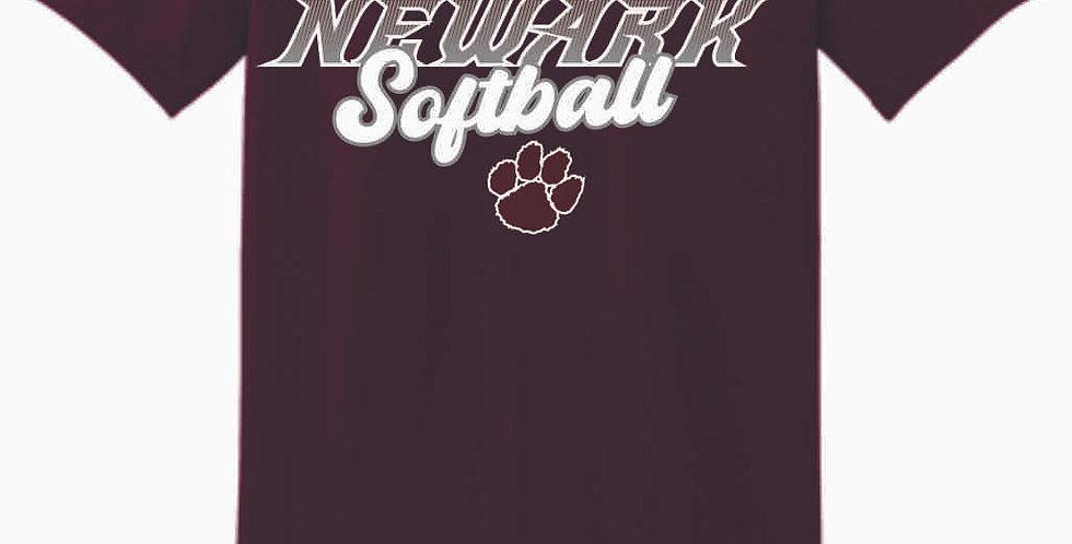 Newark Softball Maroon Cotton T Shirt