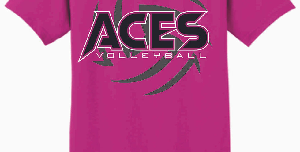 Aces Volleyball Pink T Shirt