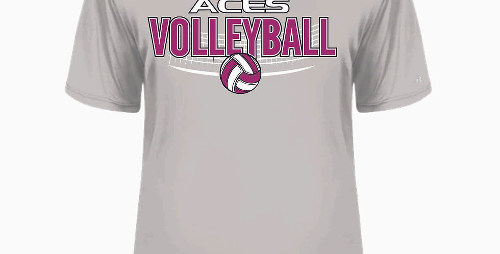 Aces Volleyball Original Grey Dri Fit Shortsleeve