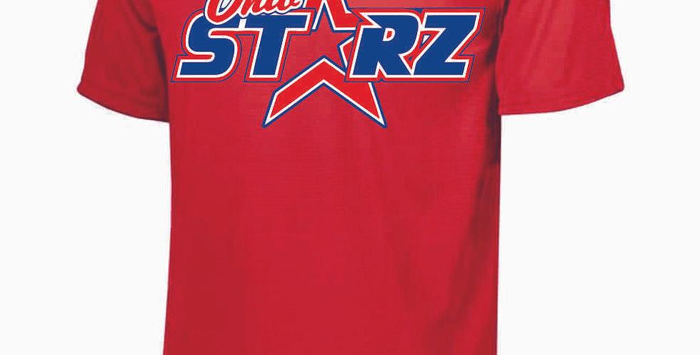 Ohio Starz Red Logo Dri Fit Shortsleeve