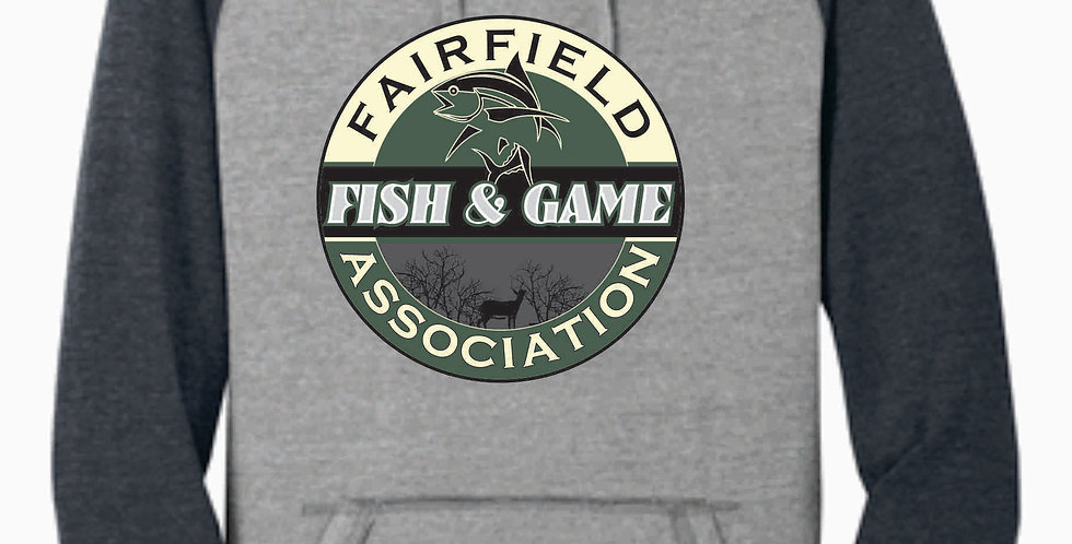Fairfield Fish and Game Grey Two Toned Hoody