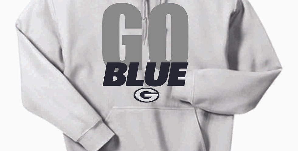 Go Blue White Cotton Hoody