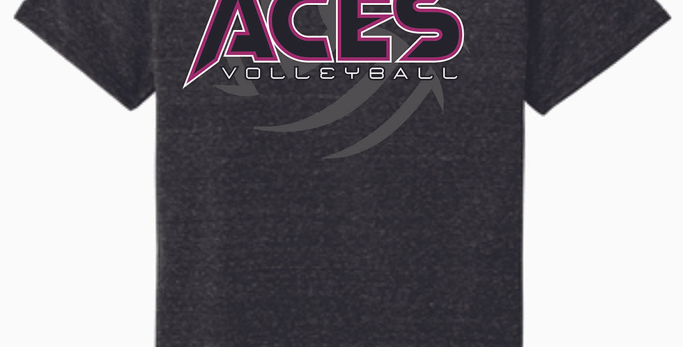 Aces Volleyball Black Soft T Shirt