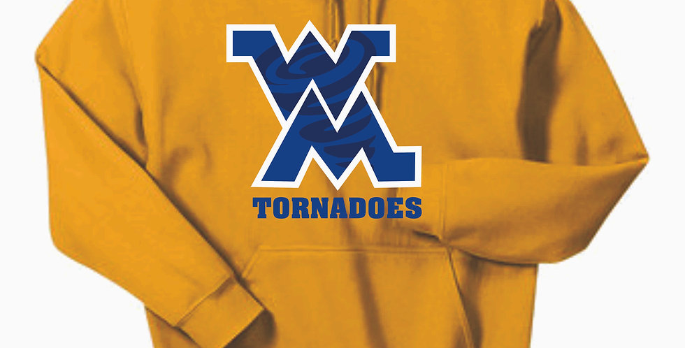 West M Middle School Gold Cotton Hoody
