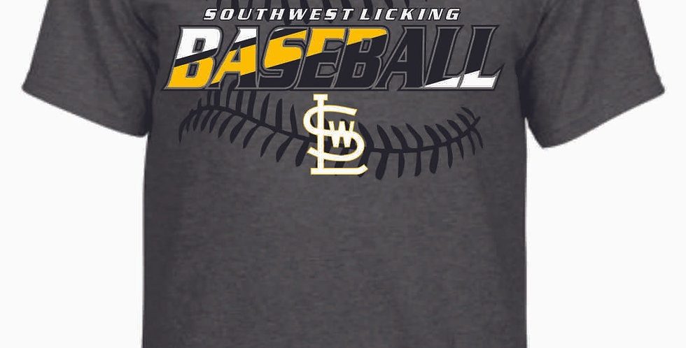 SWL Baseball Dk Grey Cotton T Shirt