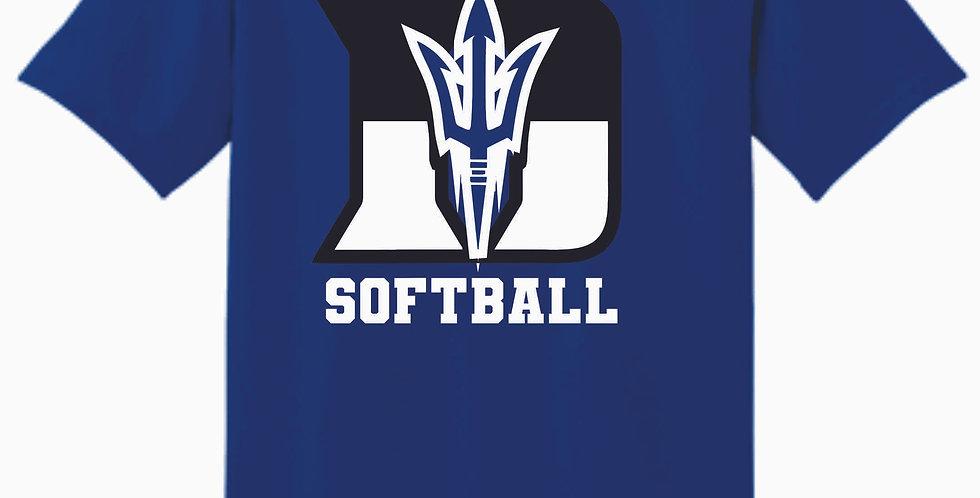 Danville Softball Royal Cotton T Shirt
