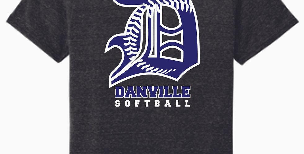 Danville Softball Jerzee Snow Heather Black T shirt