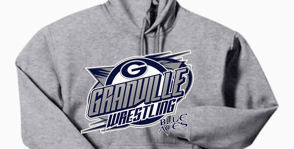 Granville Wrestling Grey Hooded Sweatshirt
