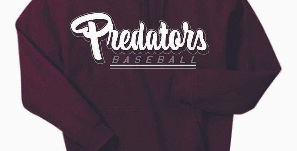 Predators Gildan Cotton Maroon Hoody