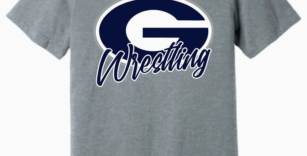 Granville Wrestling Soft Simple Grey T shirt