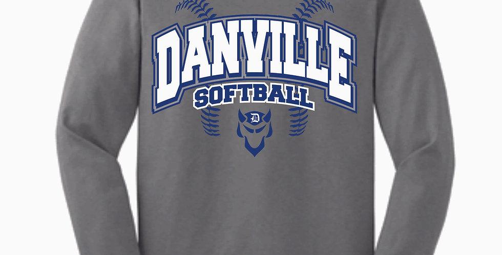Danville Softball Grey Cotton Longsleeve