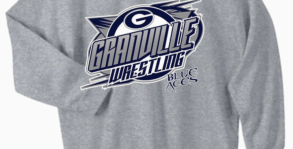 Granville Wrestling Grey Crewneck