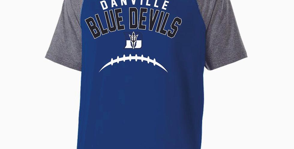 Danville Football Royal Shortsleeve Poly Hood