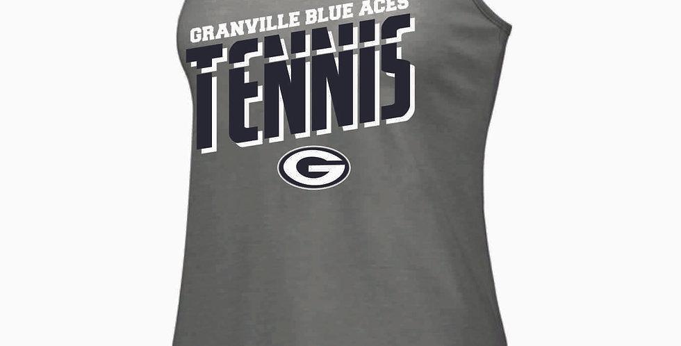 Granville Tennis Grey Tri Blend Tank