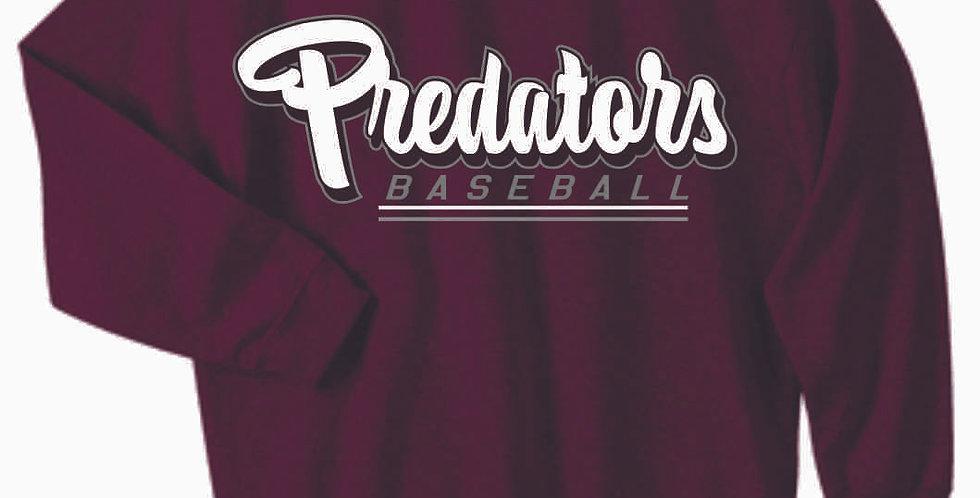 Predators Gildan Cotton Maroon Crewneck